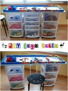 How to make a lego table pinterest lego tutorials and easy you will need paint brush or small roller wood board glue dots lego plate 3 standard drawer carts non slip shelf liner kitchen drawer organizer paint the solutioingenieria Gallery