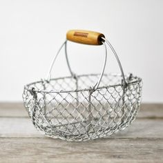 Traditional metal basket -- I'd use this for eggs or napkins
