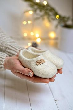 Felted kids slippers set of 2 felted baby slippers wool baby