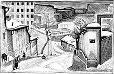 """Захаров Гурий Филиппович. Из серии """"Москва"""". Ватин переулок, 1963"""