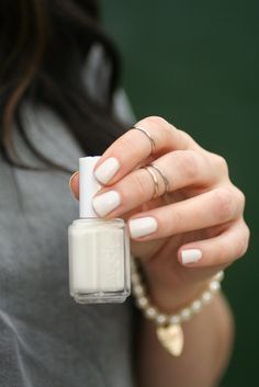 I pinned a picture of Essie Marshmallow on Pinterest  over two years ago and have coveted it ever since. In the Spring,  a friend gave m...