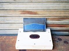 Leather Wallet Card holder hand stitched LIMITED by ArtNotebooks, $25.00