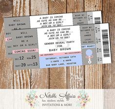 Boy or Girl Blue vs Pink Gender Reveal Party invitation - Perfect for gender reveals, gender neutral showers, etc - Choose your own wording