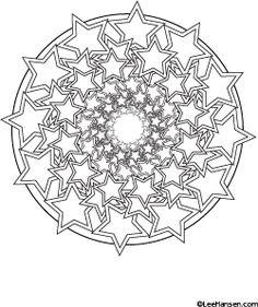 Stars #mandala design #coloringpage - new!