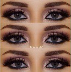 Olhos realçados com make contraste... valoriza os claros