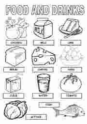Esl Coloring Pages Food And Drinks Coloring Pages Food Coloring Pages Color