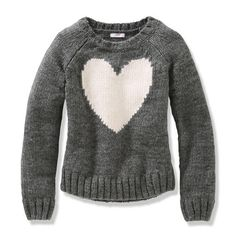 grey and white intarsia (cuts the cloy factor of this heart)