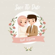 Cute Muslim Bride And Groom Cartoon For Wedding Card Bride And Groom Cartoon, Wedding Couple Cartoon, Wedding Invitation Card Design, Wedding Invitations, Personalized Valentine's Day Gifts, Cute Muslim Couples, Wedding Art, Wedding Suits, Wedding Dress