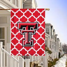"Texas Tech Red Raiders Double-Sided 28"" x 40"" Quatrefoil Fashion House Flag"