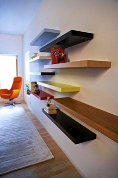 Shelf Organization Bedroom – 49 Attractive Ikea Lack Shelves Ideas Hacks… – My World Ikea Living Room, Home, Bedroom Design, Floating Shelves, Interior Design, Ikea Lack Shelves, Lack Shelf, Ikea Living Room Tables, Home Deco