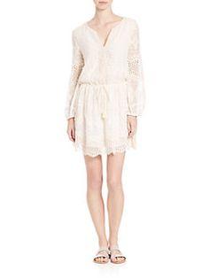 Joie - Bittern Lace Silk Dress