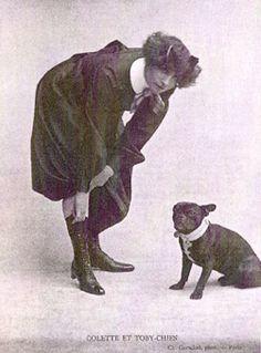 """Colette et Toby-chien ( just read """" Dialogues de Bêtes"""" the most delicious book ever )"""