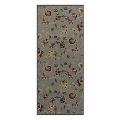 Custom Size GREY Floral Rubber Backed Non-Slip Hallway Stair Runner Rug Carpet 31 inch Wide Choose Your Length 31in X 8ft >>> Click image for more details. (This is an affiliate link and I receive a commission for the sales)