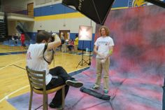 The blood drive photo booth, courtesy of Digital Tech students.