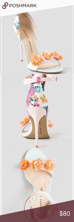 Chinese Laundry Floral Heels Never been worn. New in box. Runs true to size Chinese Laundry Shoes Heels