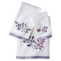 Avery 3 Piece Towel Set mix with solid color towels for a nice effect