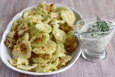 "Dovlecei ""pane"" grecești Tzatziki, Potato Salad, Side Dishes, Appetizers, Potatoes, Vegetables, Ethnic Recipes, Food, Appetizer"