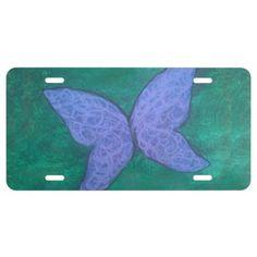 Passionate Auto   Chic Purple Blue Butterfly Green License Plate - chic design idea diy elegant beautiful stylish modern exclusive trendy