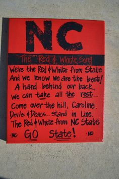 North Carolina State Canvas by PunkinandPeaches