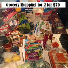 Grocery Shopping and Meal Plan for 2 for $70 --A Writer Cooks. View post at http://www.awritercooks.com/grocery-shopping-and-meal-plan-june-20/