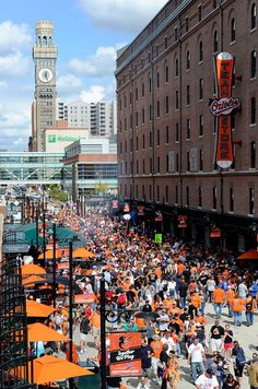 A view of Eutaw street before the game between the Boston Red Sox and the Baltimore Orioles at Oriole Park at Camden Yards on September 29