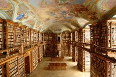 St. Florian Abbey library, Austria.  How do you even catalogue the books in this place?