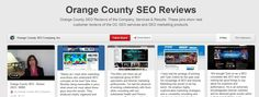 Orange County SEO is now sharing their reviews, services and results information on Pinterest. To see those pin, just visit their pinterest account. #OrangeCountySEO