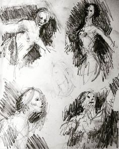 from online reference ✏️ on paper Tradigital Art, Sketch Inspiration, Love Drawings, Macabre, Figure Drawing, Glasgow, Art Inspo, Science Fiction, Journaling