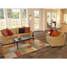 Hampton bay country oak sundown 12 mm thick x 6 3 16 in wide x 50 1 2 in length laminate - Hampton bay flooring home depot ...