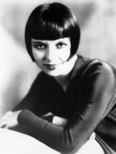 Louise Brooks, Late 1920s. Black and white photos of famous women, celebrities