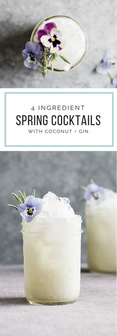 Spring Drink: Easy 4-ingredient recipe with gin and coconut!