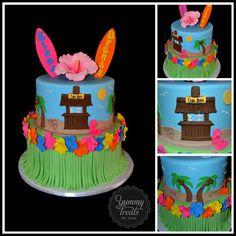 Hawaiian Cake by Yummie Treats by Yane Pool Party Cakes, Luau Cakes, Luau Party, 30th Party, Yummy Treats, Sweet Treats, Yummy Food, Beautiful Cakes, Amazing Cakes