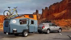 The Cricket Trailer is what happens when NASA engineering meets camping trailers. The funky shape increases aerodynamics, the trailer is lightweight & designed to be towed by all kinds of vehicles (even 4-cylinder) & fills the gap between the RV & the tent. Sleeps 2 & can be customized will many conveniences like AC, shower, cook top, refrigerator, shower, toilt, etc...