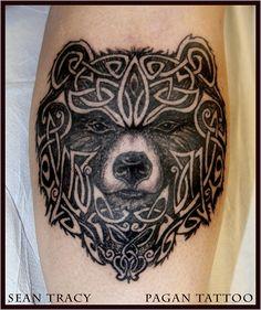 Sean Tracy at Pagan Tattoo Edmonton, full photo gallery and portfolio, biography, mission statement. Heidnisches Tattoo, Pagan Tattoo, Norse Tattoo, Celtic Tattoos, Viking Tattoos, Tattoo Fonts, Viking Tattoo Design, Chest Tattoo, Tribal Bear Tattoo