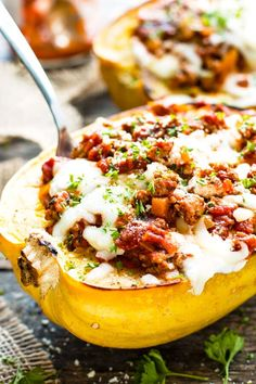 Baked Spaghetti Squash Recipes With Ground Turkey.The 11 Best Spaghetti Squash Boat Recipes The Eleven Best. Baked Spaghetti Squash With Meat Sauce KitchMe. Spaghetti Squash Lasagna Boats Recipe Pinch Of Yum. Home and Family Ground Turkey Lasagna, Ground Turkey Spaghetti, Healthy Ground Turkey, Ground Turkey Recipes, Spaghetti Squash Lasagna, Spaghetti Squash Recipes, Spaghetti Sauce, Beef Recipes, Healthy Recipes