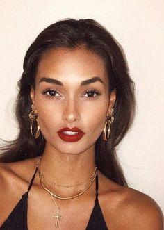Fall makeup | Red lips | Beauty