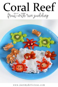 Fresh fruits and rice pudding for kids breakfast, lunch, dinner, dessert or supper. So delicious and cute!  #recipe #recipes #food #lunch #supper #breakfast #cutefood #cute #foodstylist #foodstyling #foodphotographer #foodphotography #foodie #foodart #healthy #fit #coral #reef #coralreef #fruit #fruits #kiwi #strawberries #strawberry #tomato #tomatoes #rice #ricepudding #pudding #party #summer #summerfood #holiday #holidayfood Fruit Ice, Fresh Fruit, Summer Recipes, Holiday Recipes, Food Art For Kids, Breakfast For Kids, Cute Food, Food Styling, Kids Meals