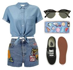 """Untitled #162"" by jem199914 on Polyvore featuring Topshop, Miss Selfridge, Vans, Zero Gravity and Ray-Ban"