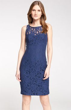 bergenstal@gmail ML Monique Lhuillier Bridesmaids Lace Illusion Sheath Dress (Nordstrom Exclusive) available at Nordstrom