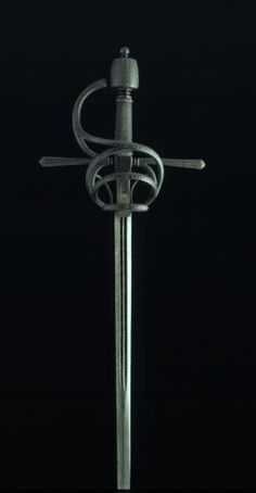 Swept Hilt Sword, 16th Century, Steel, 125.5 cm, Inventory Number 185, Museo Lázaro Galdiano, Madrid.