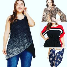 Flattering plussize tops and dresses. Curvy Outfits, Sexy Outfits, Plus Size Outfits, Curves, Chiffon, Dressing, Blouse, Shopping, Clothes