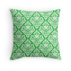 damask, green,white,vintage,floral,pattern,elegant,chic,victorian,modern,trendy,girly