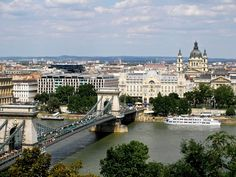 Chain Bridge & Cathedral, Budapest jigsaw puzzle