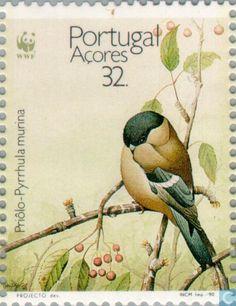 1990 Azores - WWF-Azores Bullfinch