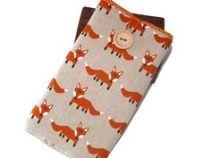 iPhone 7 Plus case foxes iPhone 7 Padded Pouch  by DriSewing