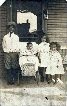 rppc-- four african american children--for sale at labonnevivante.com