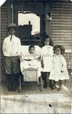 rppc-- four african american children--for sale at labonnevivante.com