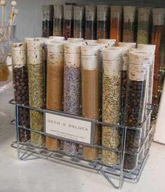 The chemistry nerd in me really likes this spice storage