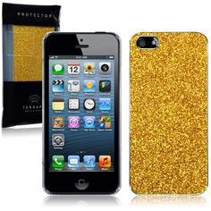 Apple iPhone 5 Disco Glitter Case By Terrapin - Gold 138-095-014 This c78bda8e6b8d2