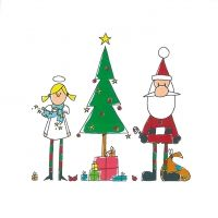 2160 BL Servilleta decorada Navidad